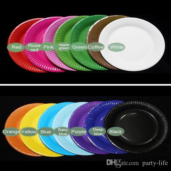 Online Cheap Festival Disposable Paper Plates For Parties Birthday Wedding Halloween Supplies Multi Candy Color Paper Plates By Party Life | Dhgate.Com & Online Cheap Festival Disposable Paper Plates For Parties Birthday ...