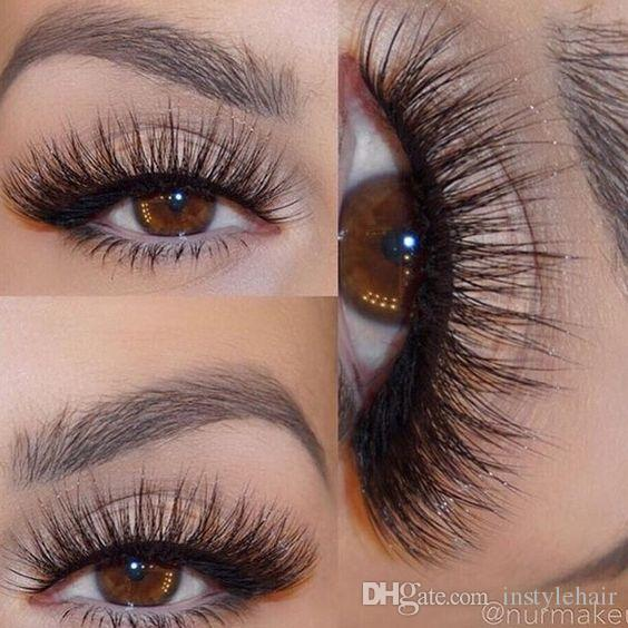 3d False Eyelashes Messy Cross Thick Natural Fake Eye Lashes
