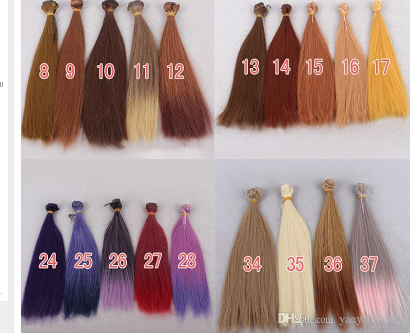 25cm100cm Bjd Hair For Blythe Doll Hairs For 13 14 16 Ball Jiont