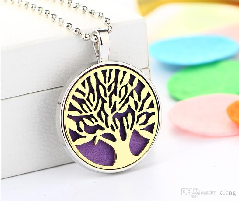 Censer Aromatherapy Locket Essential Oil Diffuser Floating Hollow Locket Pendant Necklaces Perfume Locket Necklace EXL122