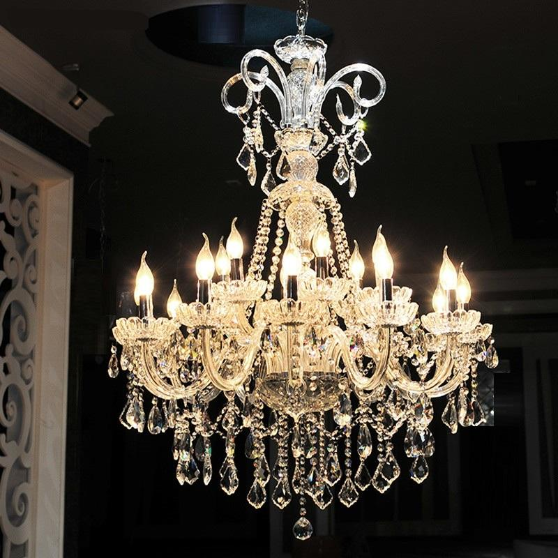 Long Stair Chandelier Crystal Large Foyer Light Modern Fashion Living Room Dining Hall Complex Staircase Lighting chandelier