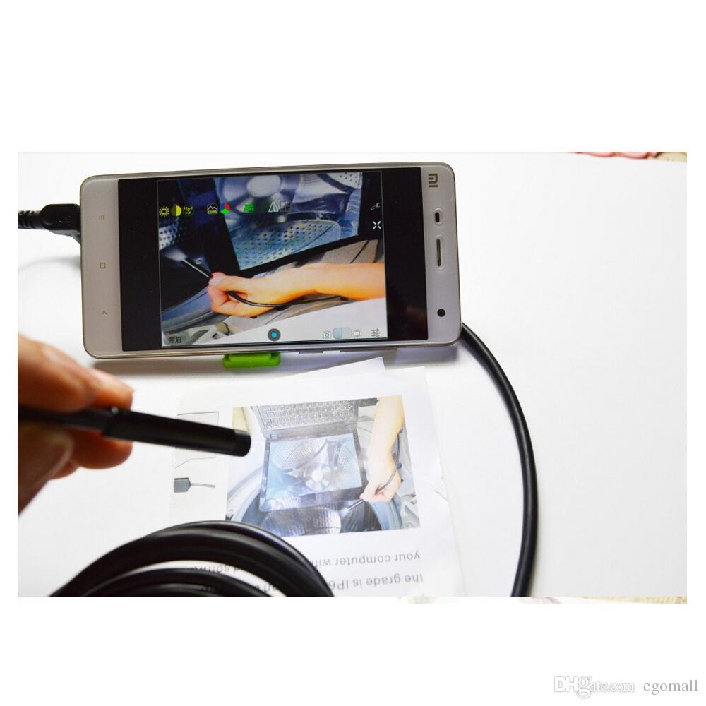 7MM طول العدسة 6-LED للماء الروبوت OTG التنظير الأنابيب التفتيش بوريسكوب أنبوب الكاميرا مع مايكرو إلى كابل USB