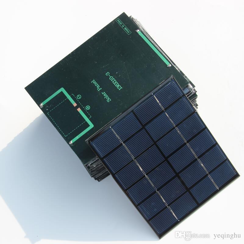 الكريستالات 2 واط 6 فولت وحدة الخلايا الشمسية الايبوكسي diy الشمسية لوحة شاحن ل 3.7 فولت بطارية نظام الطاقة بطارية الدراسة