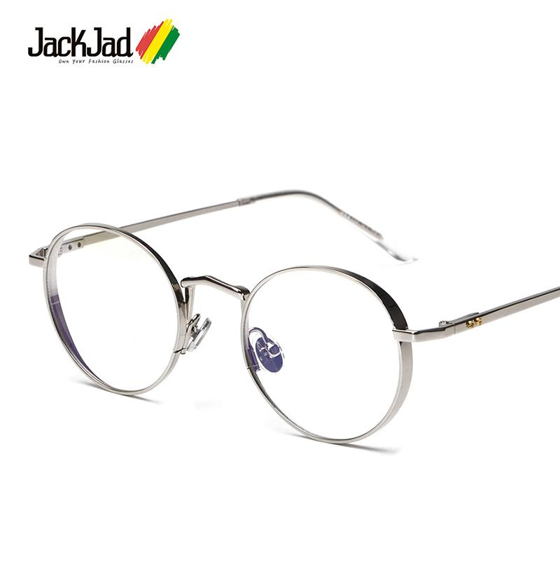 970a680cec Wholesale JackJad 2017 New Fashion Men Women Round Metal Liberty Plain Glasses  Brand Design Eyewear Frame Glasses Frame Oculos De Grau UK 2019 From  Huteng