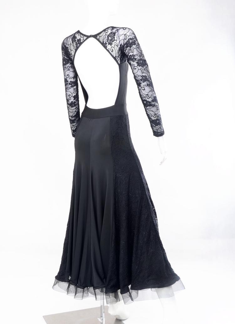 custom black lace flamenco dress spanish dance costume ballroom dance competition dresses ballroom dance dresses waltz tango dress