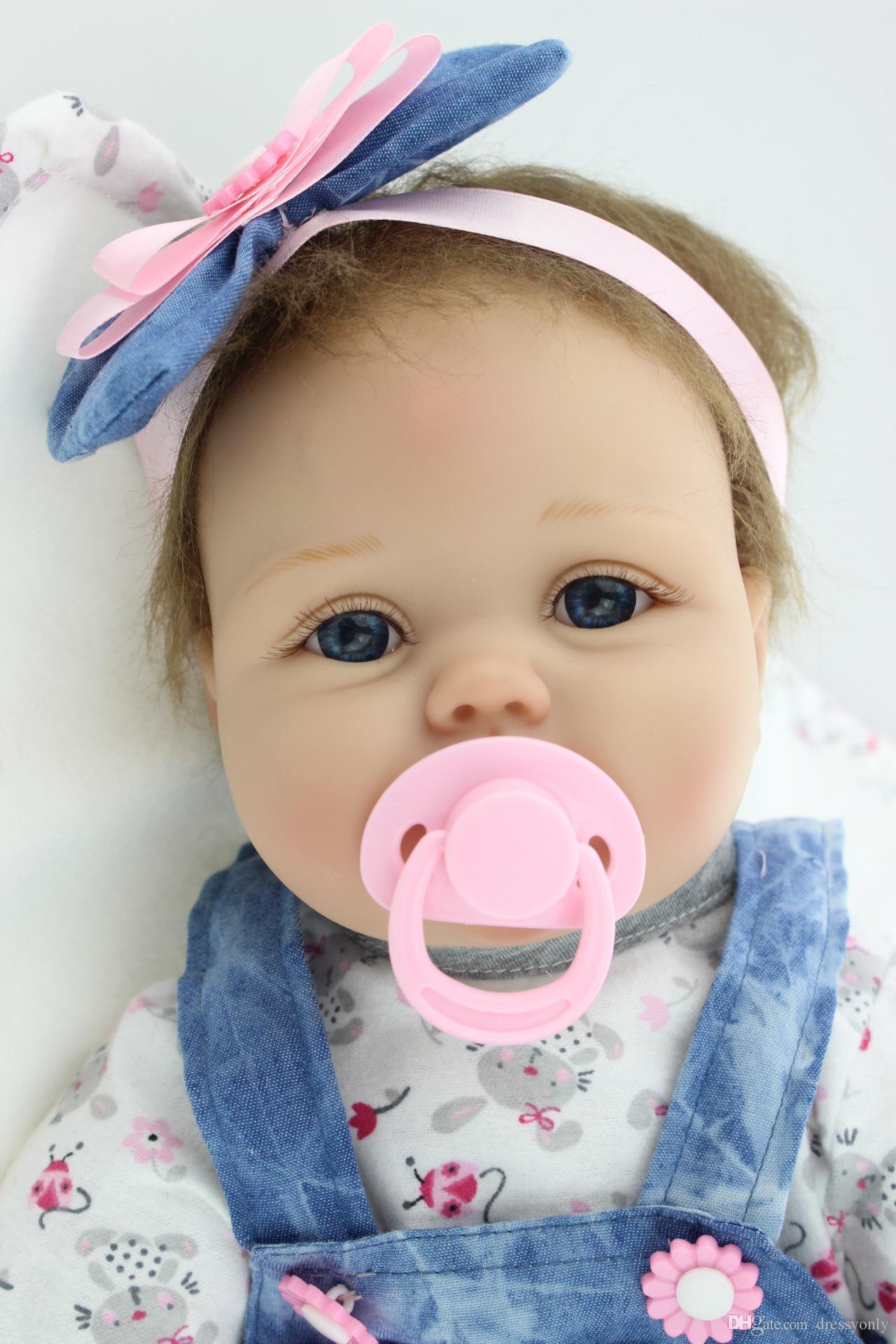 b4b212fa413 Reborn Dolls NPK Handmade Lifelike Newborn Baby Doll Silicone Full Body
