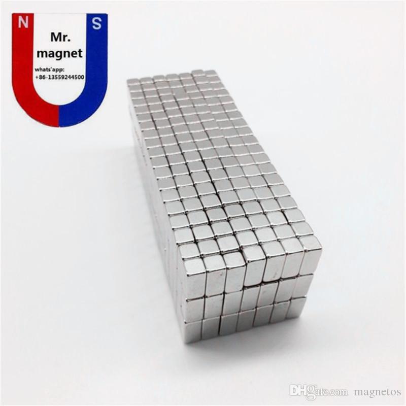 뜨거운 판매 10 * 5 * 5 10x5x5 10x5x5mm 강한 희귀 한 지구 네오디뮴 자석 NdFeB 작은 사각형 영구 자석 무료 배송