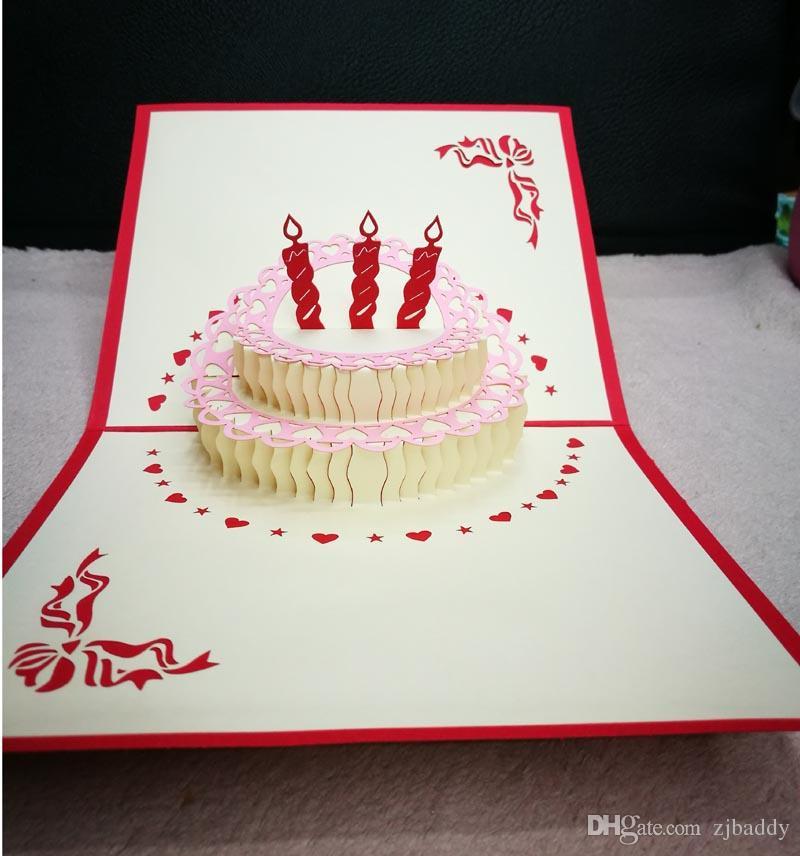 Surprising Creative Birthday Cake Small Cartoon Greeting Card Message Card 3D Personalised Birthday Cards Paralily Jamesorg