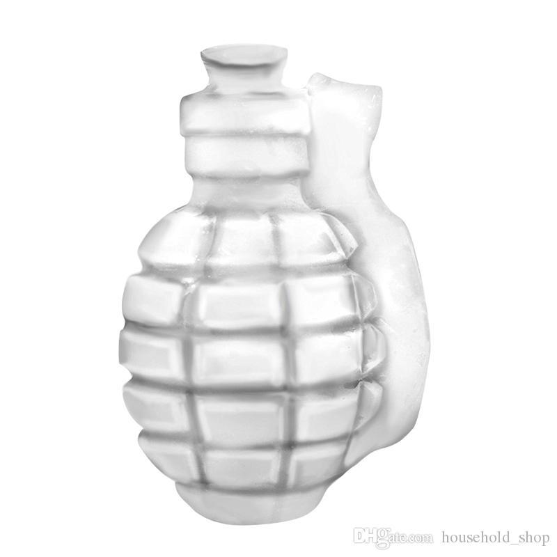3D Grenade Shape Ice Cube Плесень Творческий Ice Cream Maker партии Напитки Силиконовые Лотки Формы кухни Панель инструментов Мужские подарков