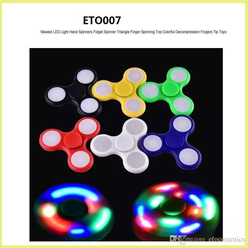EDC Fidget Spinner Toy Finger Spinner Toy Hand Tri Spinner Handspinner EDC leksak för dekompression ångest leksaker med detaljerad låda