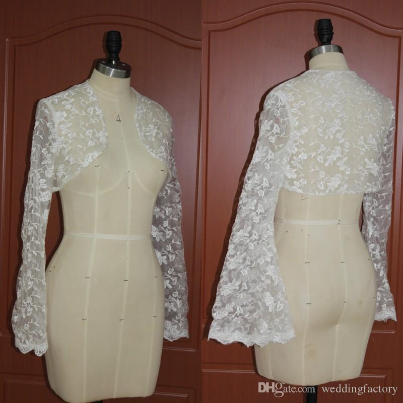2018 Real Picture Lace Bolero Jacket Wedding Dress Accessaries
