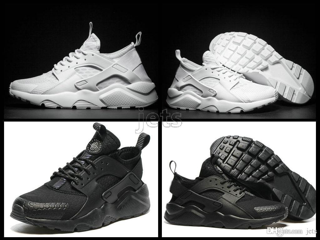 bd542cc55381 Air Huarache IV Running Shoes For Men   Women Black White High Quality  Sneakers Triple Huaraches Jogging Sports Shoes Size 36 46 Freeshippi Men  Shoes Online ...