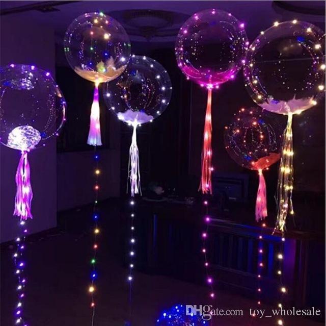Led String Lights Flasher Lighting Balloon Light Up Toys
