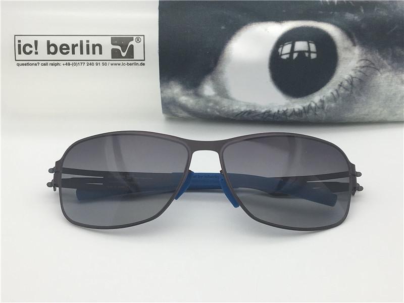 555ce3d42 Compre Óculos De Sol Da Marca De Luxo Alemanha Óculos De Sol Designer De  Maja IC Memória Mulheres Óculos De Sol Para Os Homens De Aço Inoxidável  Removível ...