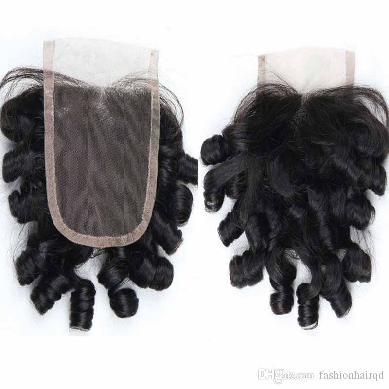 Brazilian Virgin Hair Funmi Hair Lace Closure Bleached Knots Free Part 8A Grade Cheap Human Hair Lace Front Closure 5*5