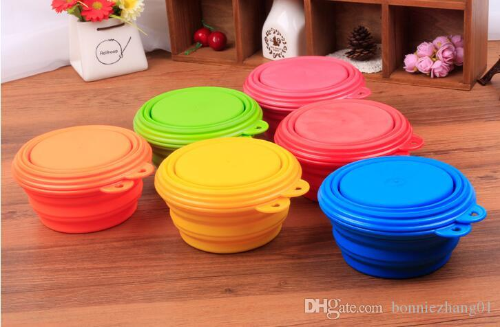 Dog Cat Pet Travel Bowl Silicone Collapsible Feeding Water Dish Feeder portable water bowl