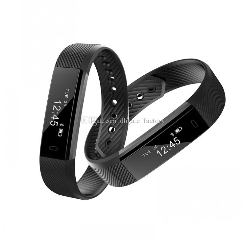 ID115 PLUS Smart Band Armband Fitness Activity Tracker Bluetooth 4.0 Smartband Sport Armband für iOS Android Veryfit wasserdicht