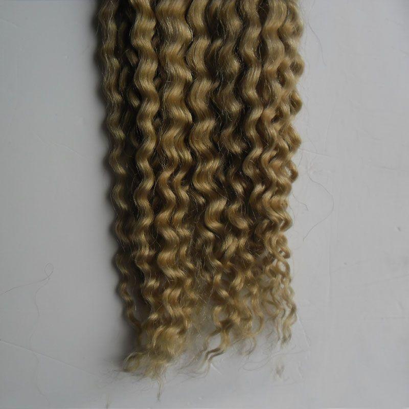 마이크로 루프 인간의 머리 확장 100 그램 1 그램 / 초 100 초 선염 머리 확장 T1B / 613 처녀 브라질 곱슬 마이크로 구슬 머리 확장