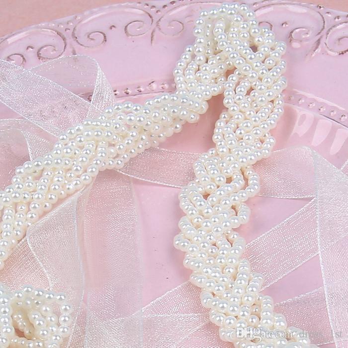 Elegante 2017 Stunning Perle Bridal Sash Cintura di nozze Immagine reale a buon mercato Abito da sposa Cintura di alta qualità Spedizione gratuita EN5261