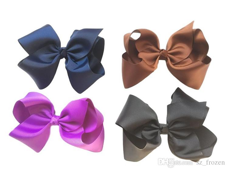 NEW Fashion Boutique Ribbon Bows For Hair Bows Hairpin Hair accessories Child Hairbows flower hairbands girls cheer bows