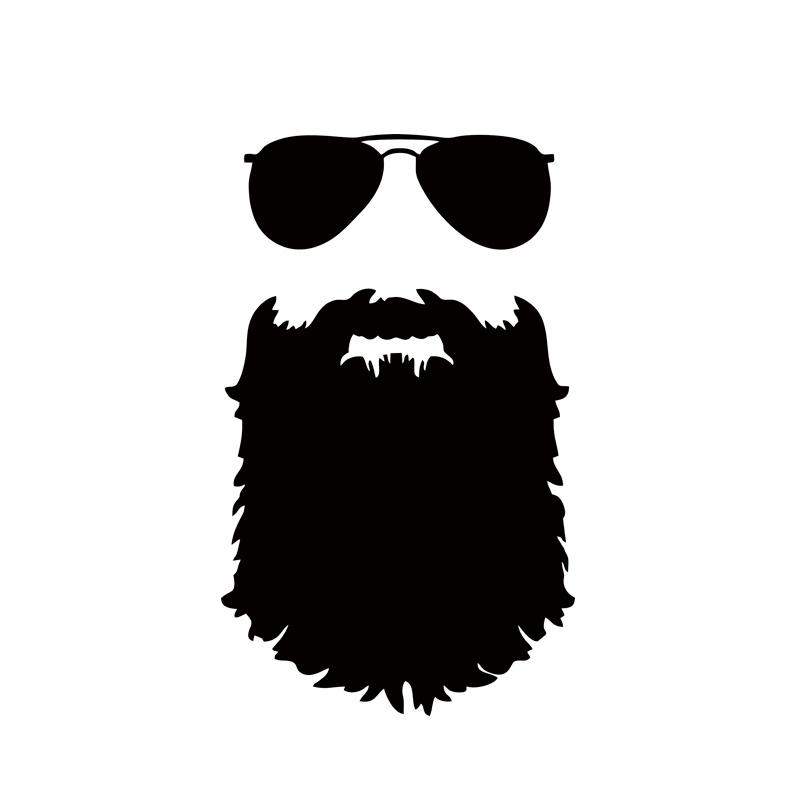 2018 2x beard sticker funny personality car styling glasses vinyl decal mustache car accessories jdm from langru1003 10 95 dhgate com