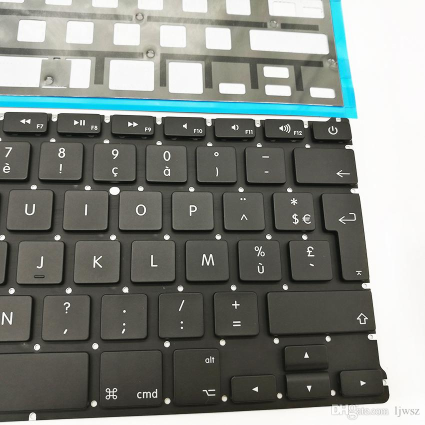 """New FR French Clavier Keyboard For APPLE Macbook Air A1369 A1466 13"""" With Laptop Black Backlit 2011 2012 2013 2014 2015"""
