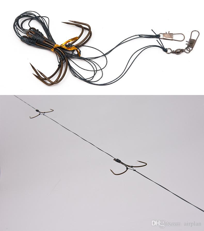 boat fishing double high horsepower butterfly string hook fish line fishing accessories pesca hooks