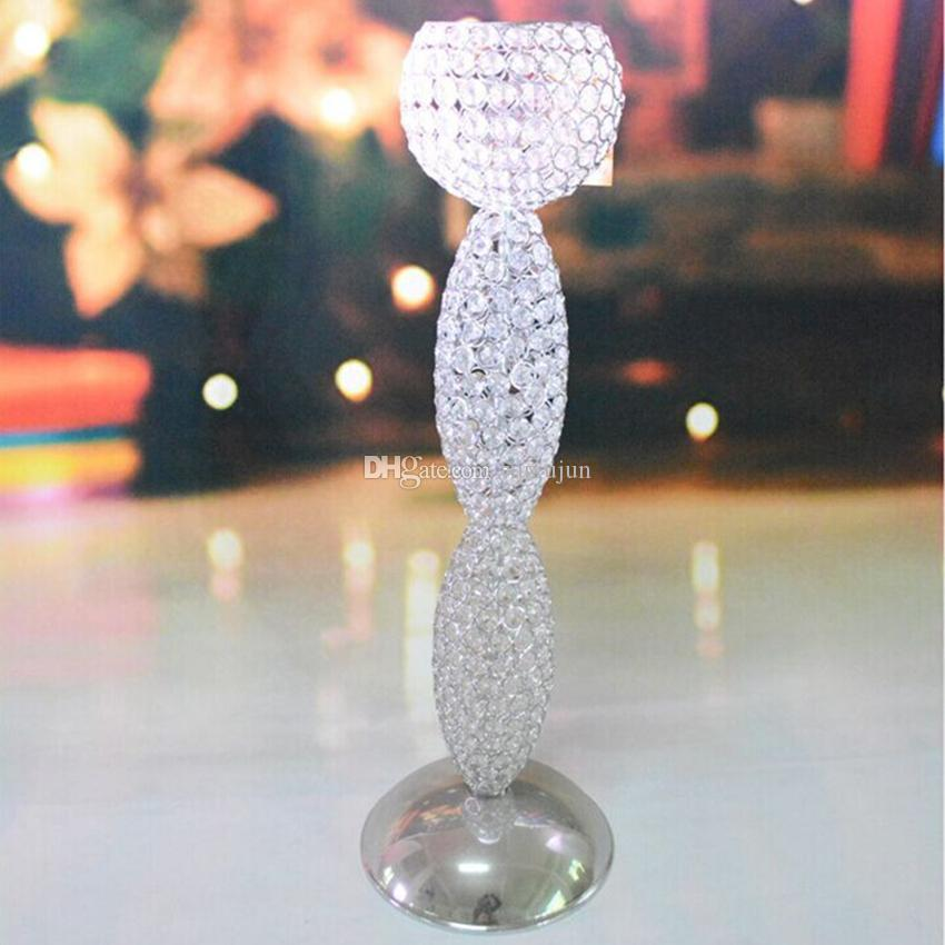 Fashion & Luxury Case 70 cm Tall Candle Holder Glass Central Party / Wedding decoration 1 = 6 units,