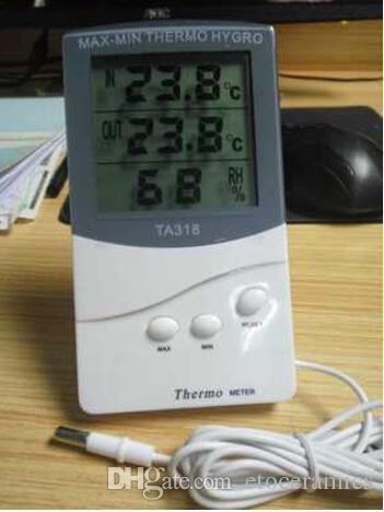 KTJ TA318 LCD Digitale di Alta Qualità Indoor / Outdoor Termometro Igrometro Temperatura Umidità Termo Igrometro MINI MAX 200 pezzi su