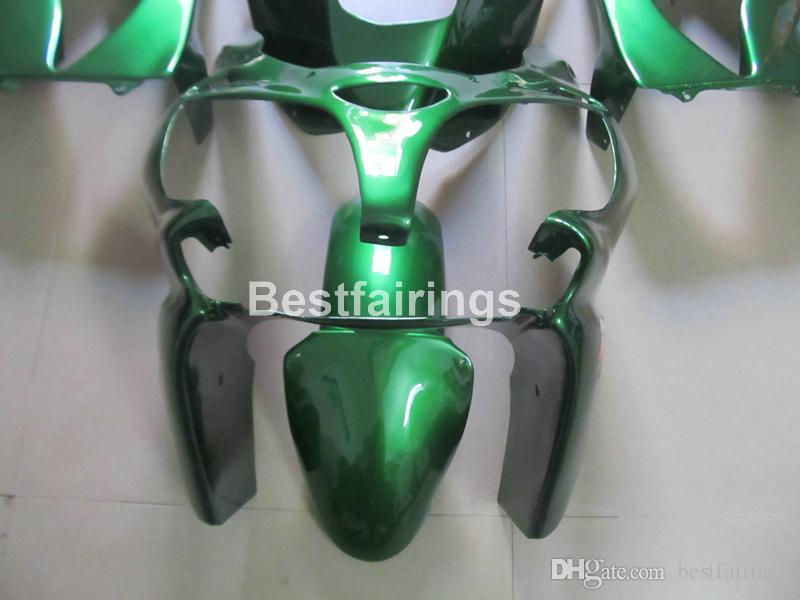 Kawasaki Ninja ZX9R 2000 2001 yeşil motosiklet grenaj seti Fairing Yeni sıcak vücut parçaları ZX9R 00 01 PJ