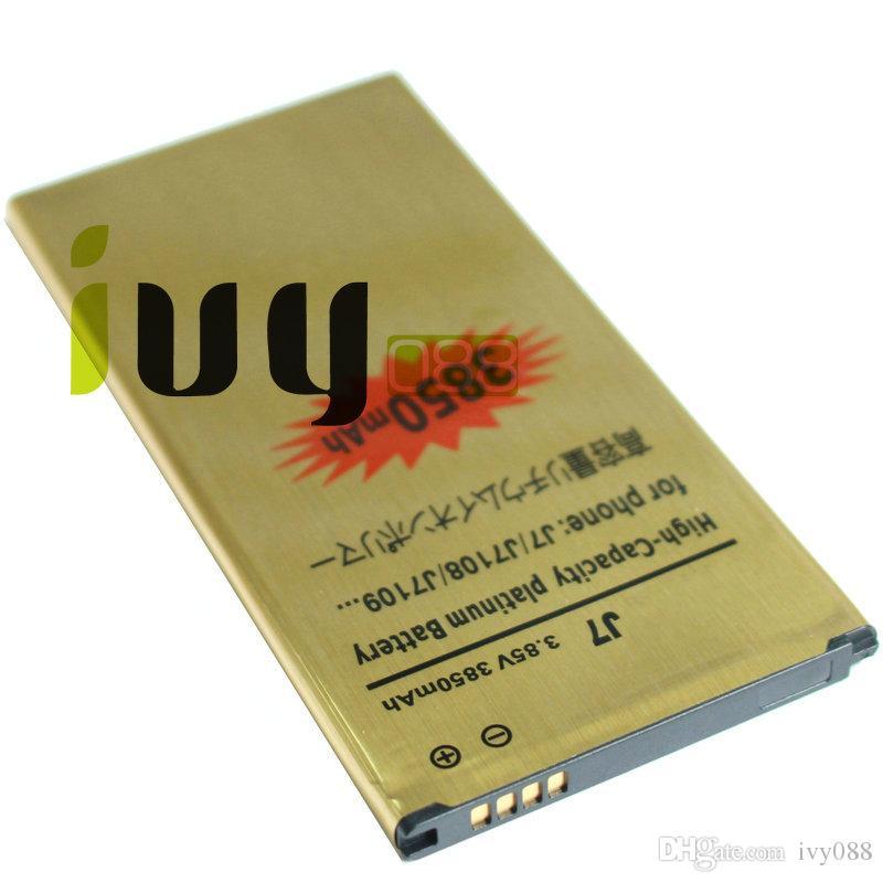 محفظة / الكثير 3850mAh EB-BJ710CBC الذهب استبدال البطارية لبطاريات 2016 الطبعة سامسونج غالاكسي J7 J7108 J7109 SM-J708 J7008 J7009 J700F