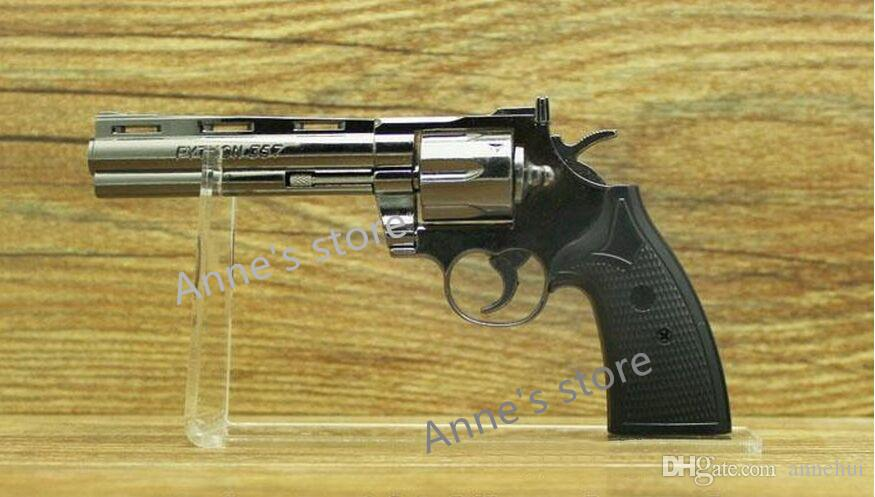 Free shippiing boutique magasin clair acrylique pistolets en plein air support porte modèle pistolet montrant pistolet présentoir rack