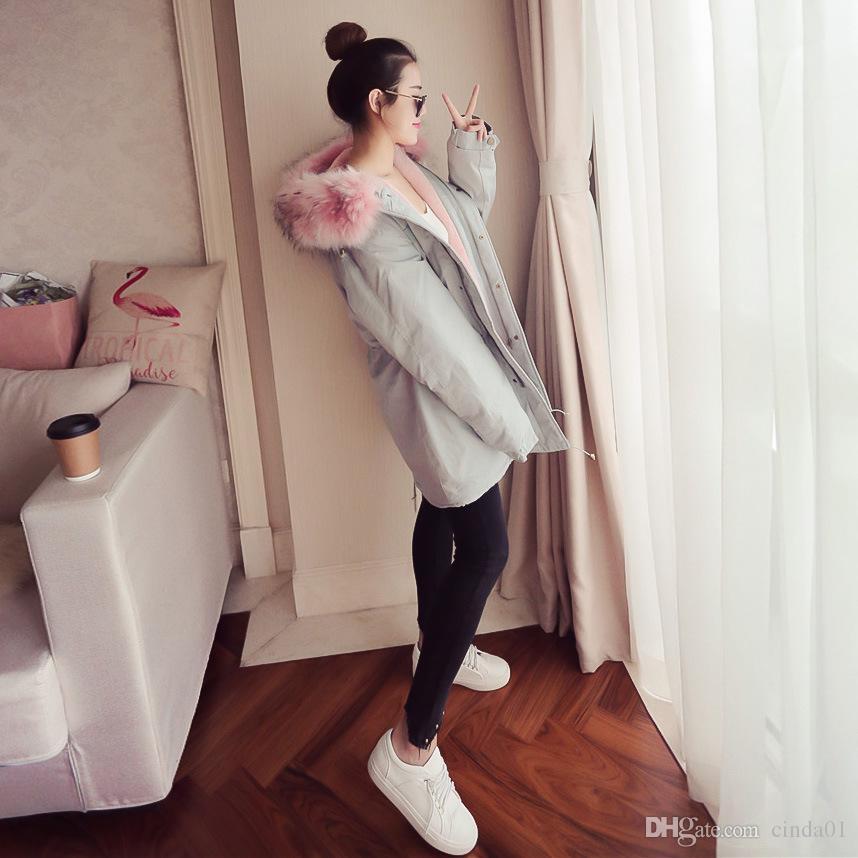 Femmes D'hiver Chaud Longs Parkas À Capuche Épais Lâche Manteaux Mignon Plus Taille Vêtements pour Vêtements Féminins Vestes Downs