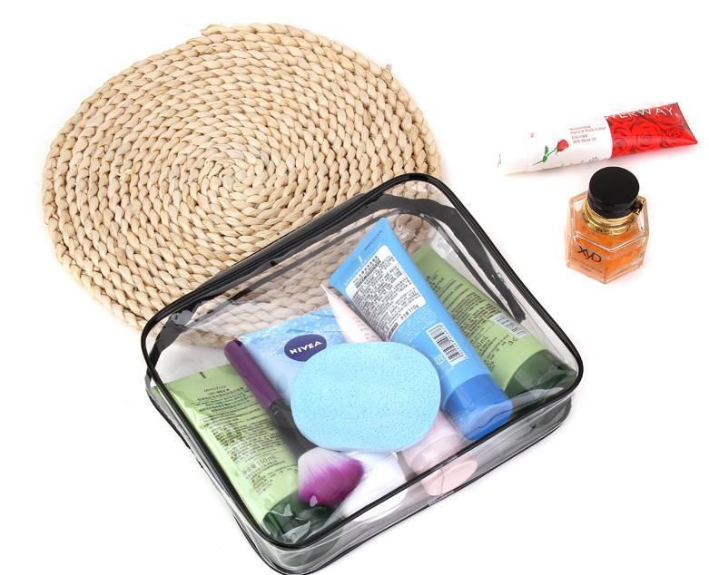 Maquiagem Proteção Ambiental PVC Transparente Saco Cosmético Mulheres Viajar Maquiagem Sacos De Higiene Maquiagem Caso Organizador