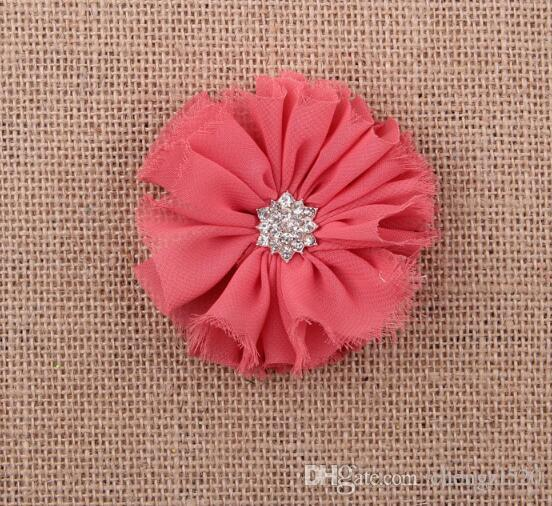 Niños niñas bebé perla diamante gasa flor Diadema Headwear Hair Band Head Piece Accesorios YH565