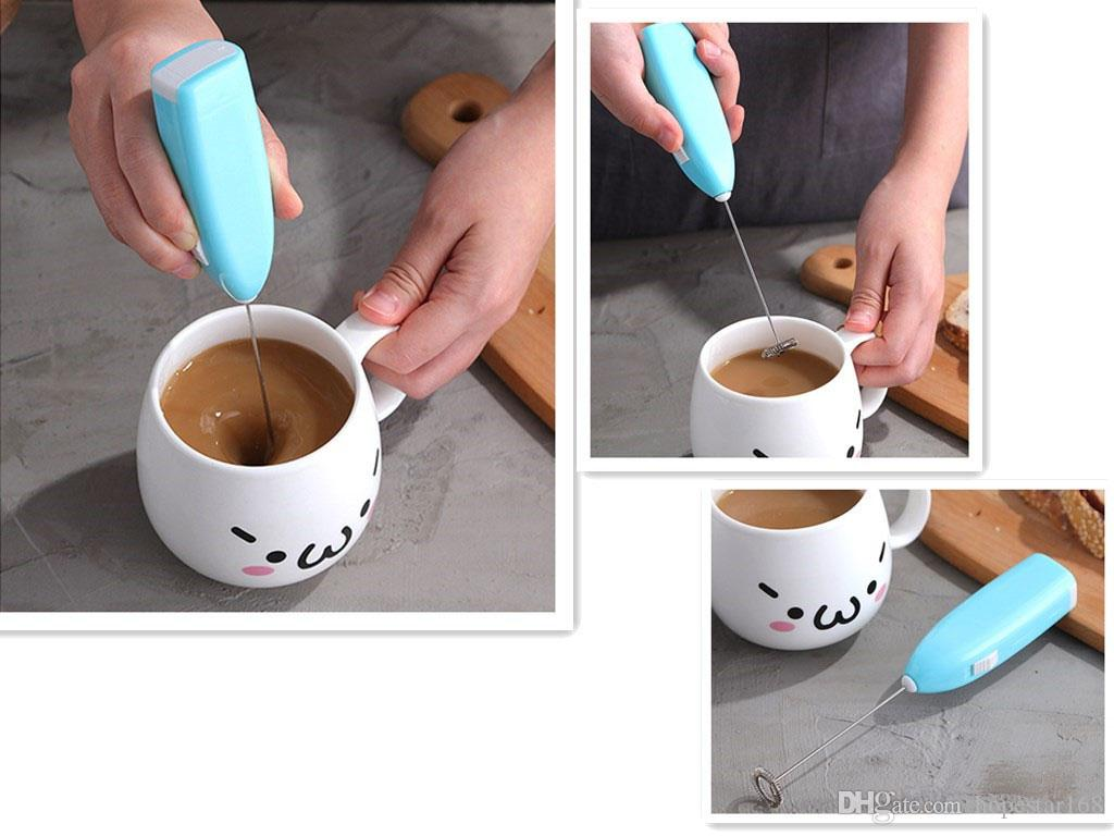 Egg Beaters Mixers Coffee Cream Stirrer Cappuccino Maker Milk Blender Handhold Electric Butter Mixer Blender Kitchen Gadgets Egg Tools