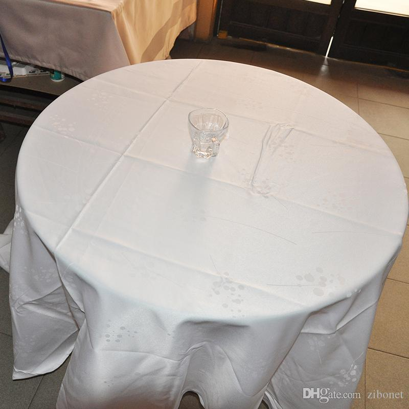 100% Polyester Jaquard Table Cloth Round High Quality Wedding Table Cloth  /White/Red/Grey/Brown Linen Like Tablecloths 70 Round Tablecloth From  Zibonet, ...