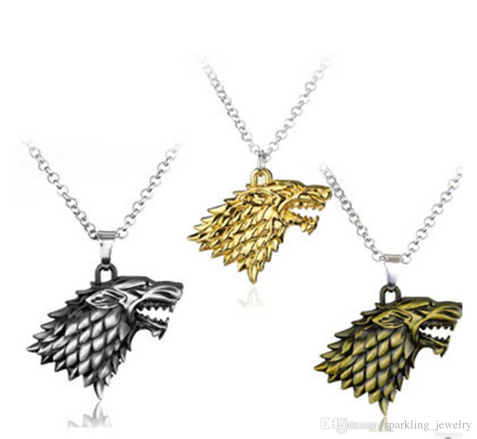 Wholesale high quality wolf pendant necklace song of ice and fire wholesale high quality wolf pendant necklace song of ice and fire theme game of thrones necklace best pendant necklace as gifts pendant necklace silver aloadofball Choice Image