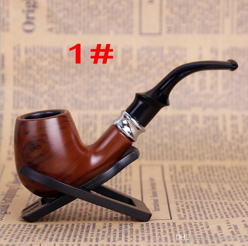 Durable Classique En Bois Lisse Standard Cheminée Tabac À Tabac Type Coudé Noir Cadeau Ensemble Livraison gratuite