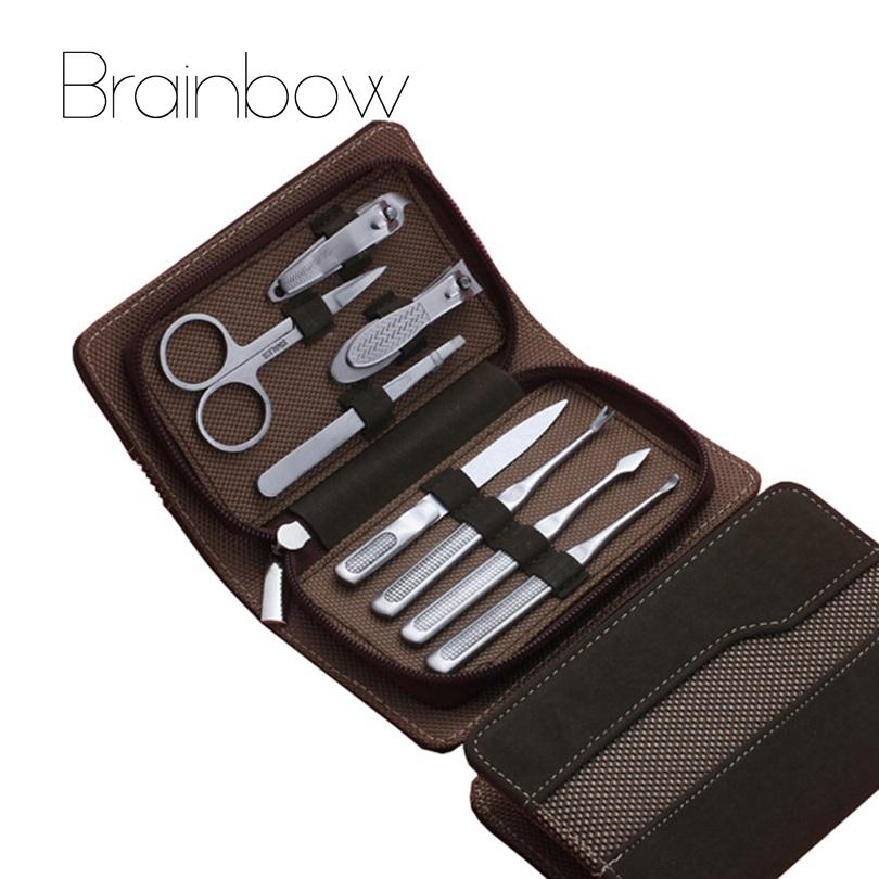 All'ingrosso- 8pcs Set per manicure, forbici per pedicure Pinze per forbici per orecchie Kit per tagliaunghie per attrezzi, set per attrezzi per la cura delle unghie in acciaio inossidabile