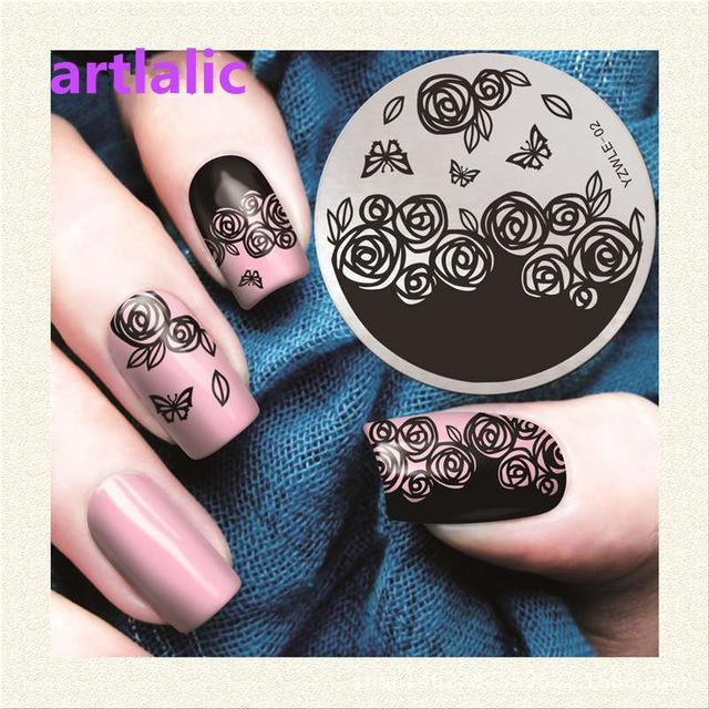 Wholesale Nail Art Template Nail Stamping Plates Beauty Handle