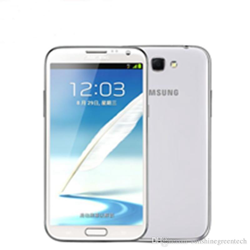 Восстановленный Samsung Galaxy Note 2 N7100 Сотовые телефоны 5,5-дюймовый Quad Core 2GB RAM 16 ГБ ROM Восстановленные телефоны разблокированы
