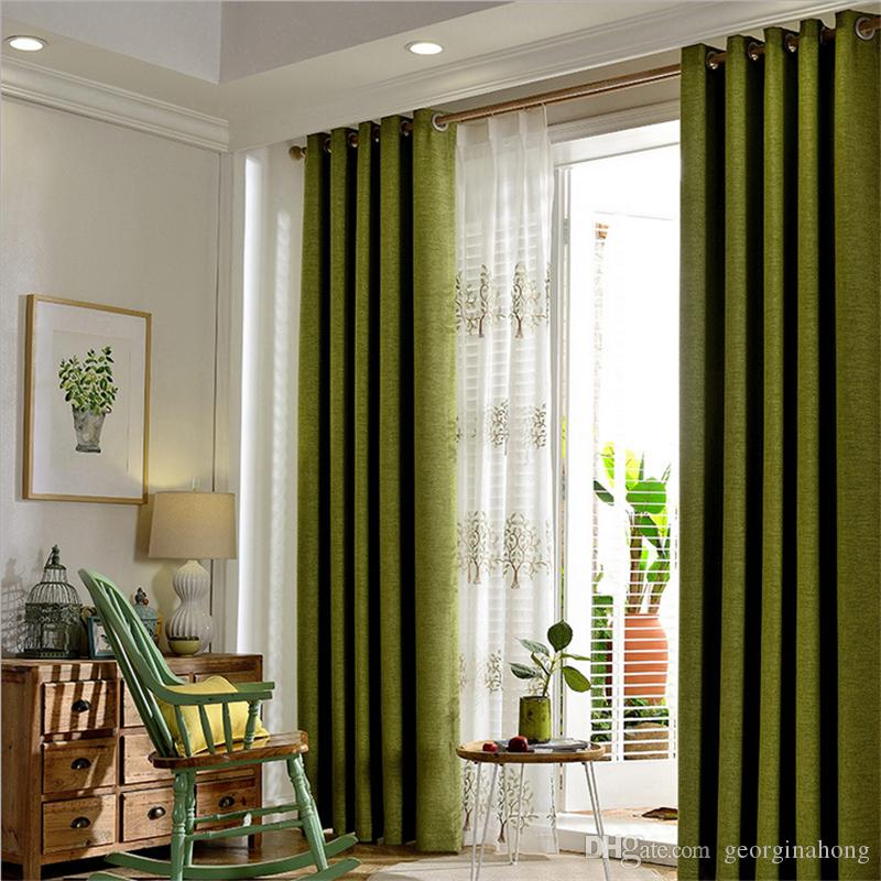 2018 Modern Cotton Linen Green Window Curtains For Living Room Quality Bedroom  Curtain Door Curtain For Kitchen From Georginahong, $14.08 | Dhgate.Com