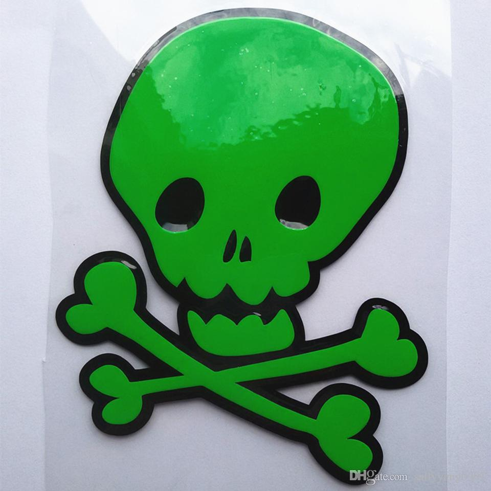 Whole sale Fuel tank cap waterproof skull car sticker KQY-8