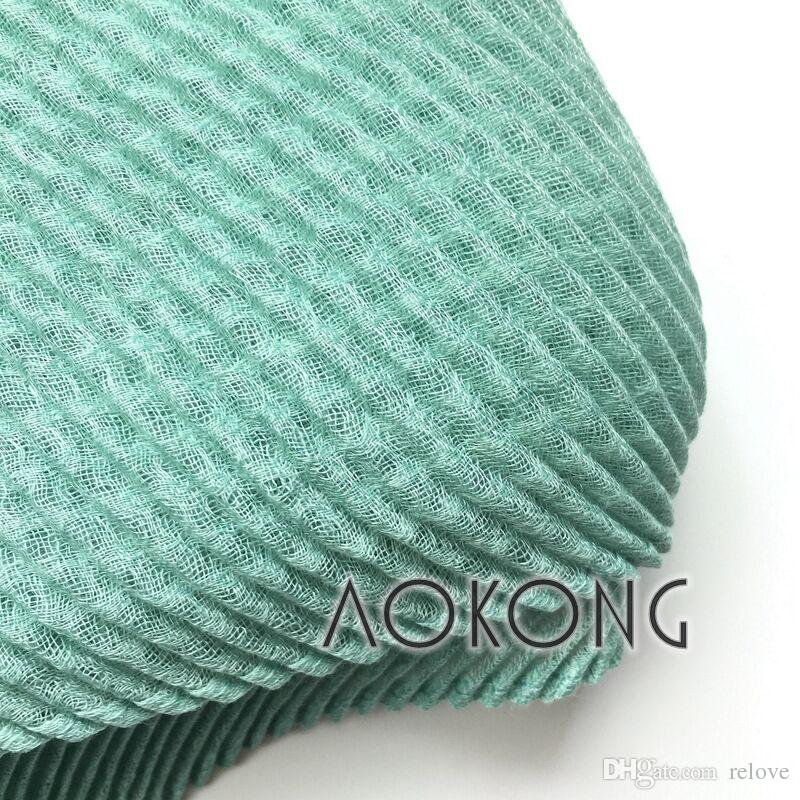 wholesale Hijab Scarves Muslim Head Scarf Arab Islamic Head Wear Hat Cotton and linen Women's Shawls Headband
