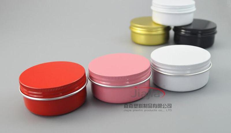 Серебро черное золото белый розовый красный алюминиевый контейнер держатель для свечи алюминиевая банка 10 г 30 г 50 г 60 г 80 г Крем банки круглый олова алюминиевый крем