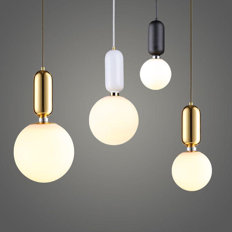 nordic style glass ball pendant light single head glass chandelier rh dhgate com
