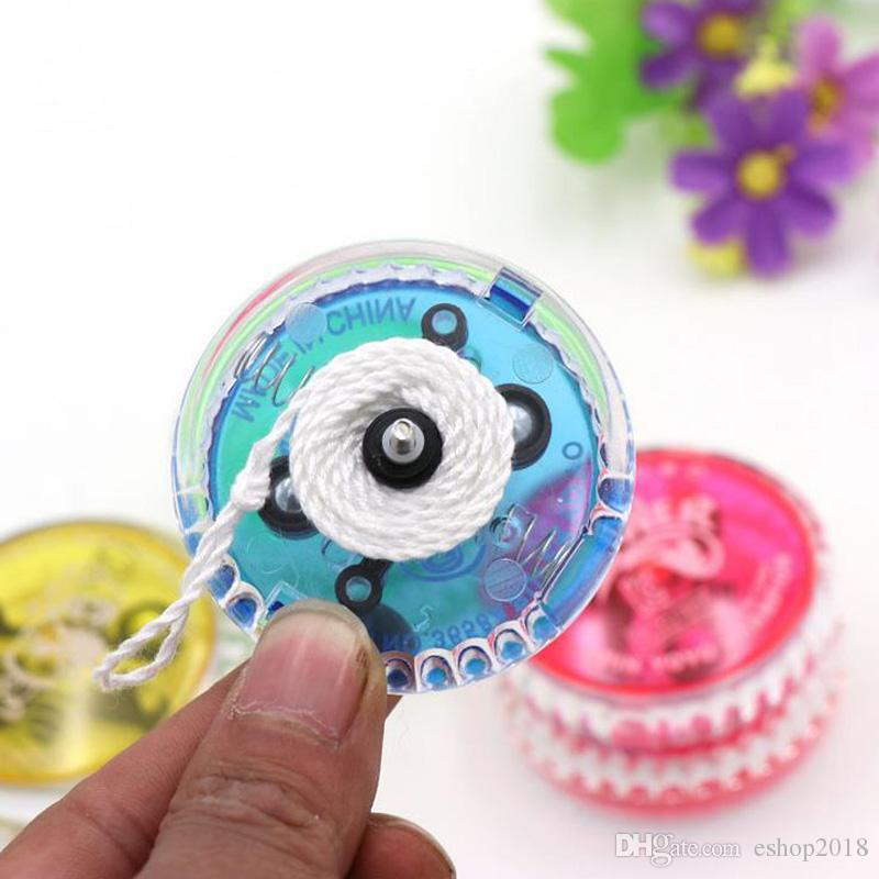 2017 new 6 * 3cm glowing yo-yo line yo-yue puzzle children's toy manufacturers wholesale weight 35g