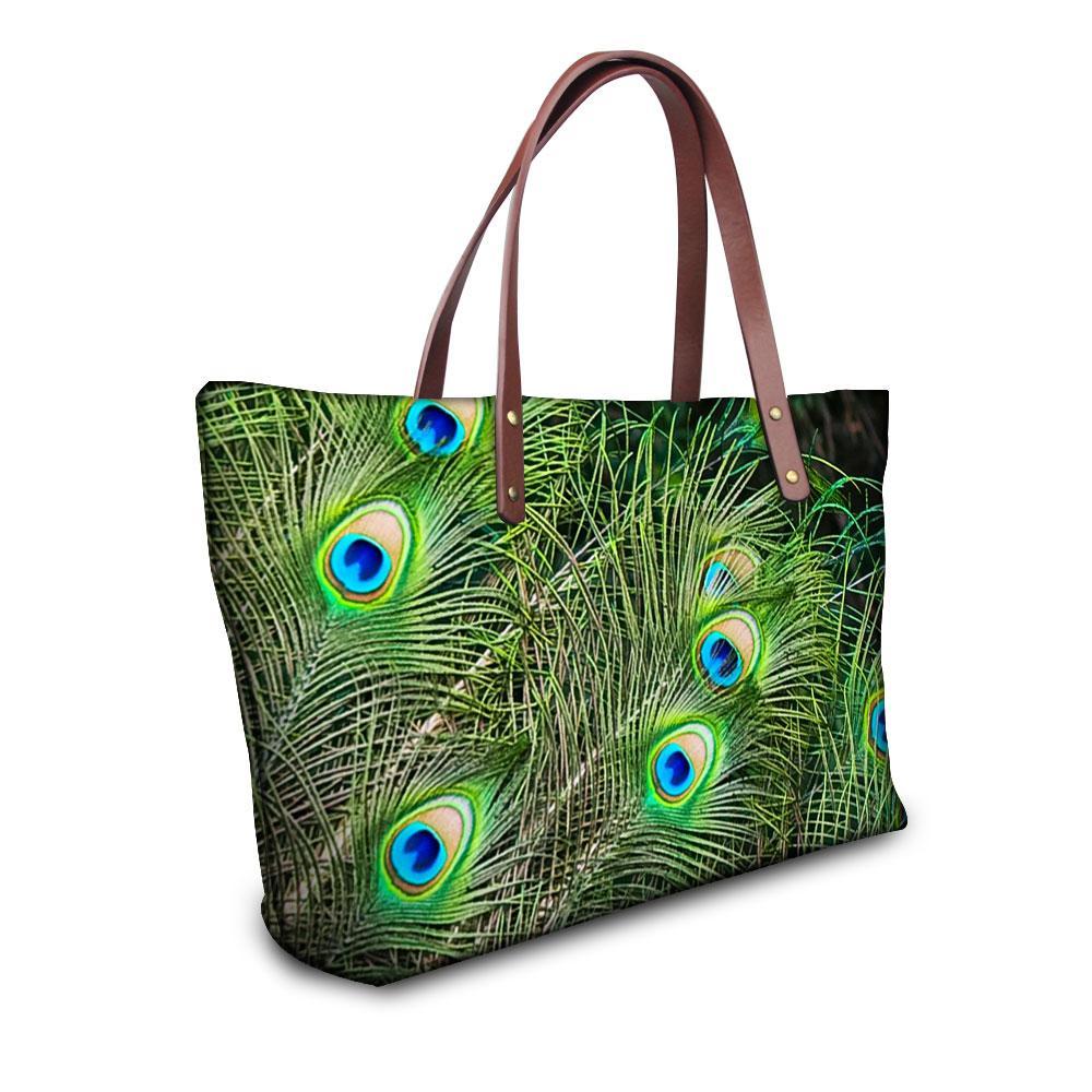Wholesale Fashion Women Handbags Female Crossbody Shoulder Bag Famous Brand  Peacock Print Tote Handbag Casual Shopper Bags Travel Purse Branded Handbags  ... 3638afc45d