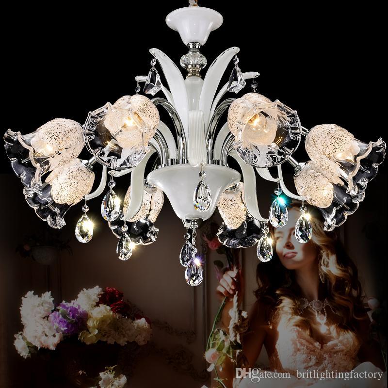 Modern Boutique Beauty Salon Chandelier Glass Crystals Lamp Industrial Lighting Living Room Dining Crystal Lights Livingroom